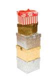 Stapel bunte Geschenke stockfoto