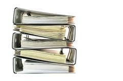 Stapel bureaudossiers Royalty-vrije Stock Afbeeldingen