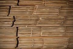 Stapel cardboards Stock Afbeelding
