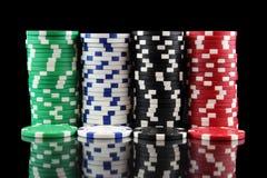Stapel casino het gokken spaanders Stock Afbeelding