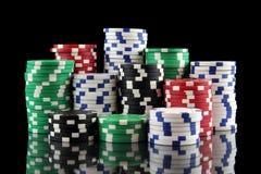 Stapel casino het gokken spaanders Royalty-vrije Stock Afbeelding