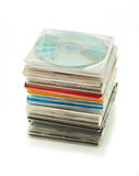 Stapel CDs in dozen 2 stock afbeeldingen