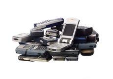 Stapel cellphones royalty-vrije stock foto's