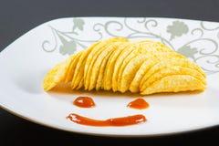 Stapel chips Royalty-vrije Stock Foto