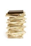 Stapel chocoladestukken royalty-vrije stock foto