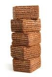 Stapel chocoladewafeltjes stock foto