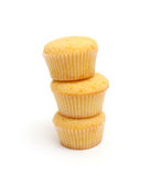 Stapel citroenmuffins Royalty-vrije Stock Afbeeldingen