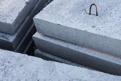 Stapel concrete blokken Stock Fotografie