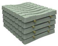 Stapel concrete dwarsbalken stock afbeeldingen