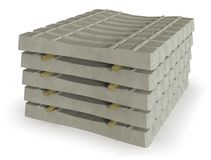 Stapel concrete dwarsbalken royalty-vrije stock foto's