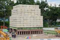Stapel Concrete Stenen Stock Fotografie