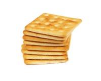 Stapel crackers royalty-vrije stock afbeeldingen