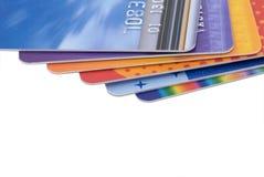 Stapel Creditcards Royalty-vrije Stock Foto's