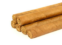 Stapel Cubaanse sigaren Royalty-vrije Stock Fotografie