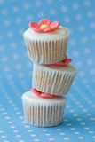 Stapel cupcakes Royalty-vrije Stock Foto