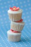 Stapel cupcakes Royalty-vrije Stock Foto