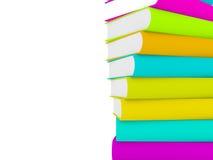 Stapel 3d boeken met veelvoudige dekking Royalty-vrije Stock Foto's