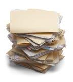 Stapel Dateien Stockbild