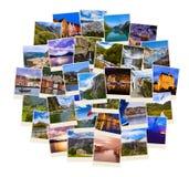 Stapel de reisschoten van Noorwegen Stock Afbeelding