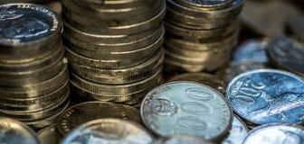 Stapel de Roepiemuntstukken van Indonesië Royalty-vrije Stock Fotografie