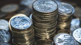 Stapel de Roepiemuntstukken van Indonesië Stock Foto's