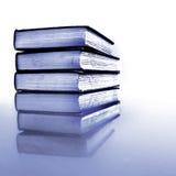 Stapel der alte Buch-Schwarzweiss-Reflexion Lizenzfreie Stockfotos