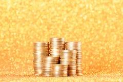 Stapel der alten goldenen Münzen Lizenzfreies Stockfoto