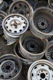 Stapel der alten Räder Lizenzfreies Stockfoto