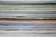 Stapel der alten Zeitschriften Stockfoto