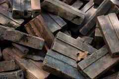 Stapel der alten Ziegelsteine Stockfotografie