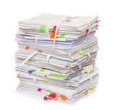 Stapel der amtlichen Papiere Lizenzfreies Stockbild