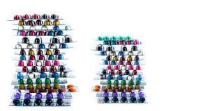 Stapel der antibiotischen Kapselpillen in den Blisterpackungen Pharmazeutischer Markt Antibiotische Medikamentenresistenz viele F lizenzfreie stockfotografie