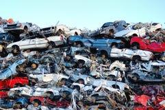 Stapel der Autos Stockfotografie