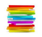 Stapel der Bücher getrennt auf weißem Hintergrund Stockbilder