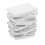 Stapel der Bücher getrennt auf weißem Hintergrund Lizenzfreies Stockbild