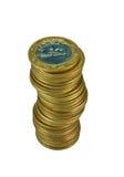 Stapel der brasilianischen Münzen Lizenzfreie Stockfotografie