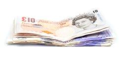 Stapel der Britisch Pounds Stockfotografie