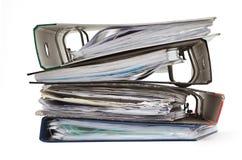 Stapel der bunten Dateien Lizenzfreies Stockbild