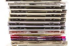 Stapel der Digitalschallplatten Stockfotos