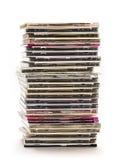 Stapel der Digitalschallplatten Stockfoto