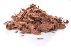 Stapel der dunkelbraunen Schokolade bessert I aus Stockfotografie