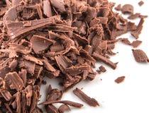 Stapel der dunkelbraunen Schokolade bessert V aus Lizenzfreie Stockfotos