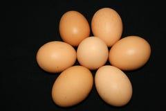 Stapel der Eier Stockfoto