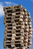 Stapel der Euroladeplatten (1) Stockfoto