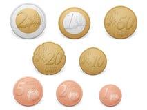 Stapel der Euromünzen vektor abbildung