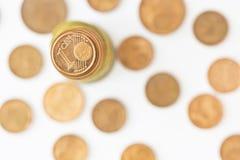 Stapel der Euromünzen Lizenzfreie Stockfotos
