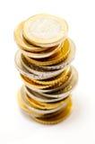 Stapel der Euromünzen Lizenzfreies Stockbild