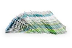 Stapel der Farbenzeitschriften Stockfotografie