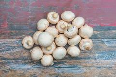 Stapel der frischen Pilze stockbilder