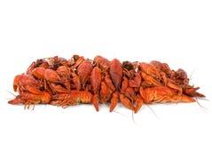 Stapel der gekochten crawfishes Stockbild